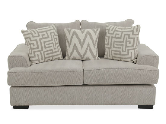 "Chevron Contemporary 75"" Loveseat in Greige"