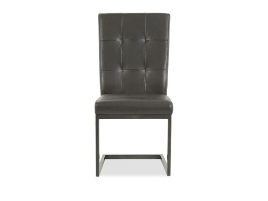 Tufted Back 38'' Side Chair in Brown