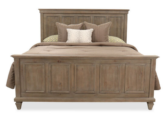"64"" Transitional King Bed in Dovetail Gray"