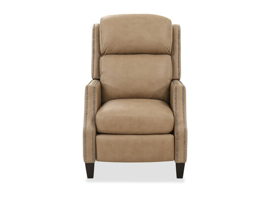 Nailhead-Trimmed Contemporary 29'' Power Motion Recliner in Cream