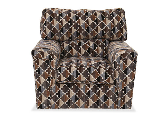 """Abstract-Patterned Casual 43"""" Swivel Chair"""