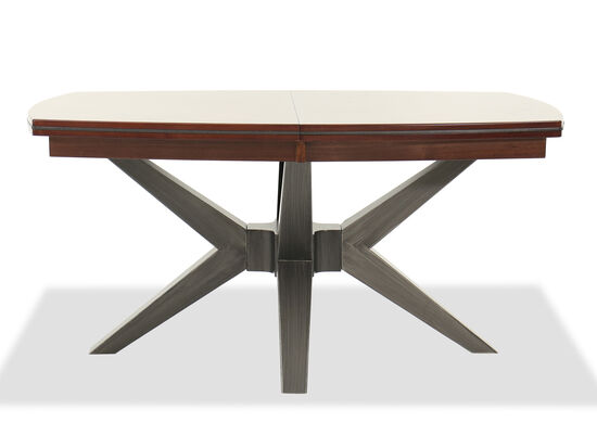 """Transitional 78"""" Dining Table in Brown"""