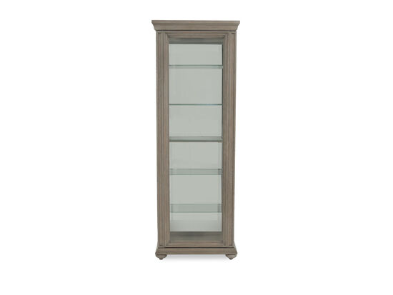 Modern Sliding Door Curio in Gray