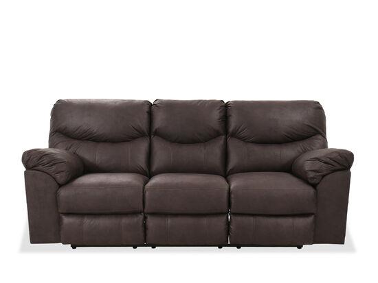 "Contemporary 93"" Power Reclining Sofa in Teak"