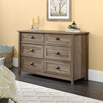 "33"" Contemporary Paneled Six-Drawer Dresser in Salt Oak"