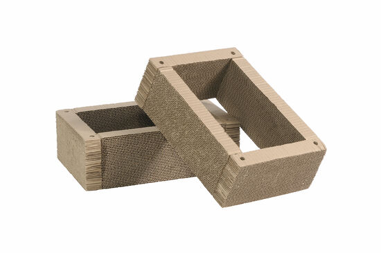 Two-Piece Casual Replacement Cat Scratchers in Brown