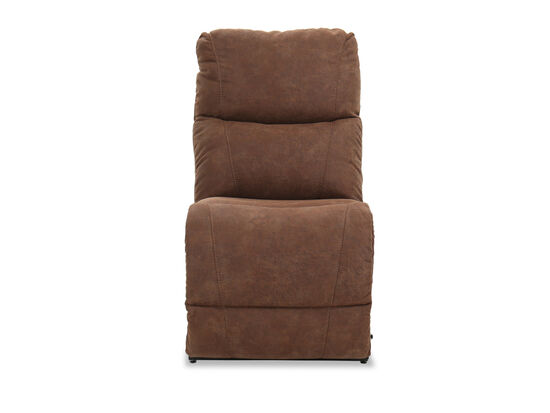 """Contemporary 24"""" Armless Chair in Whiskey"""