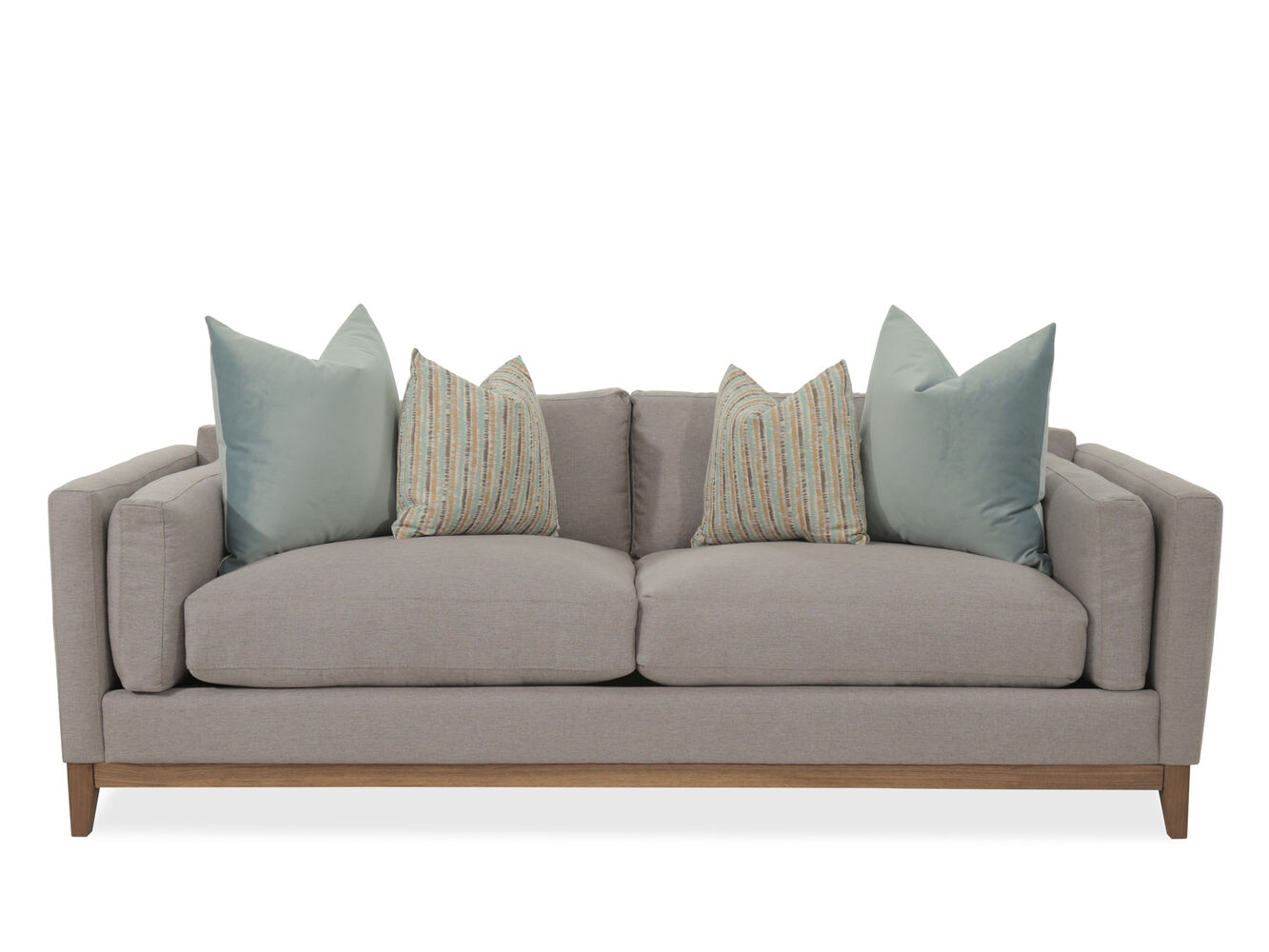 Contemporary 89 Sofa In Gray Mathis Brothers Furniture