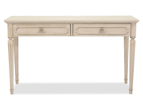 Two-Drawer Youth Vanity Desk in Vintage Taupe
