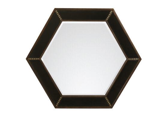 Country Hexagonal 48'' Mirror in Dark Brown