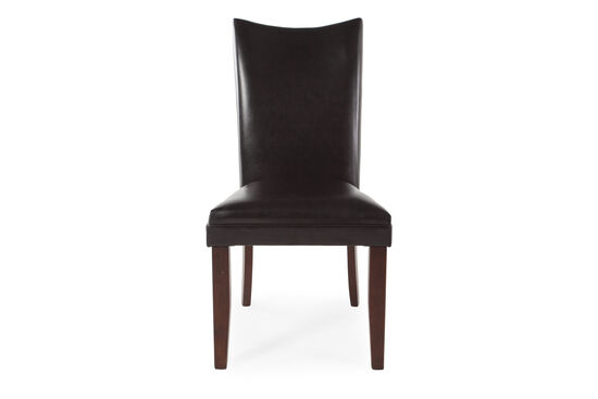 Two-Piece Contemporary Side Chair Set in Brown