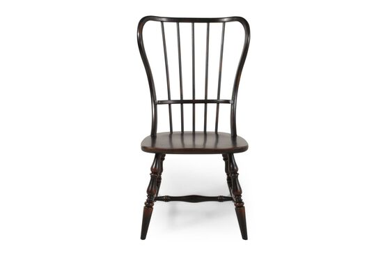 Spindle Back Side Chair in Ebony