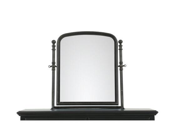 Traditional Youth Tilt Mirror in Dark Black