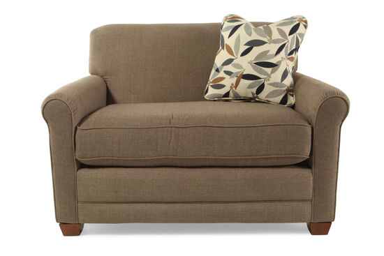 """Textured Contemporary 54"""" Sleeper Chair in Brown"""