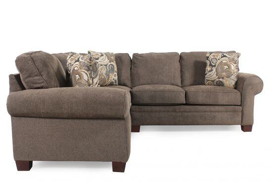 Two-Piece Sectional in Brown