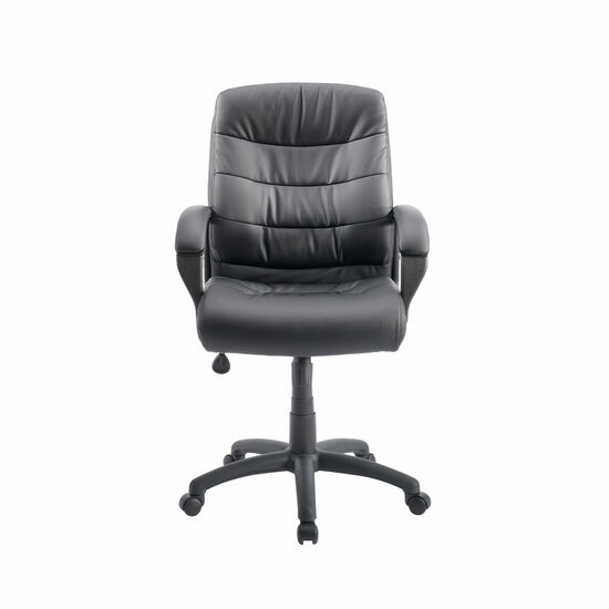 Contoured Lumbar Support Manager's Swivel Tilt Chair in Black