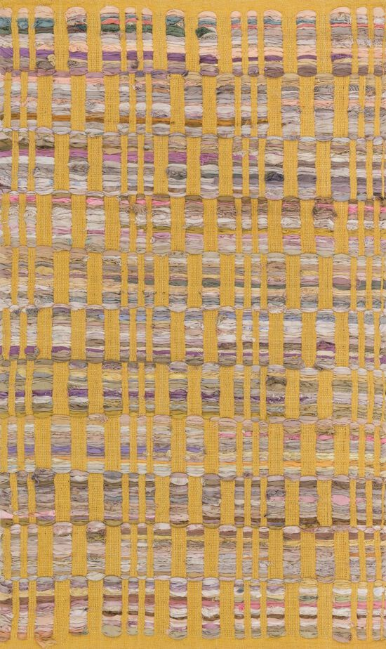 """Contemporary 1'-8""""x3' Rug in Yellow"""