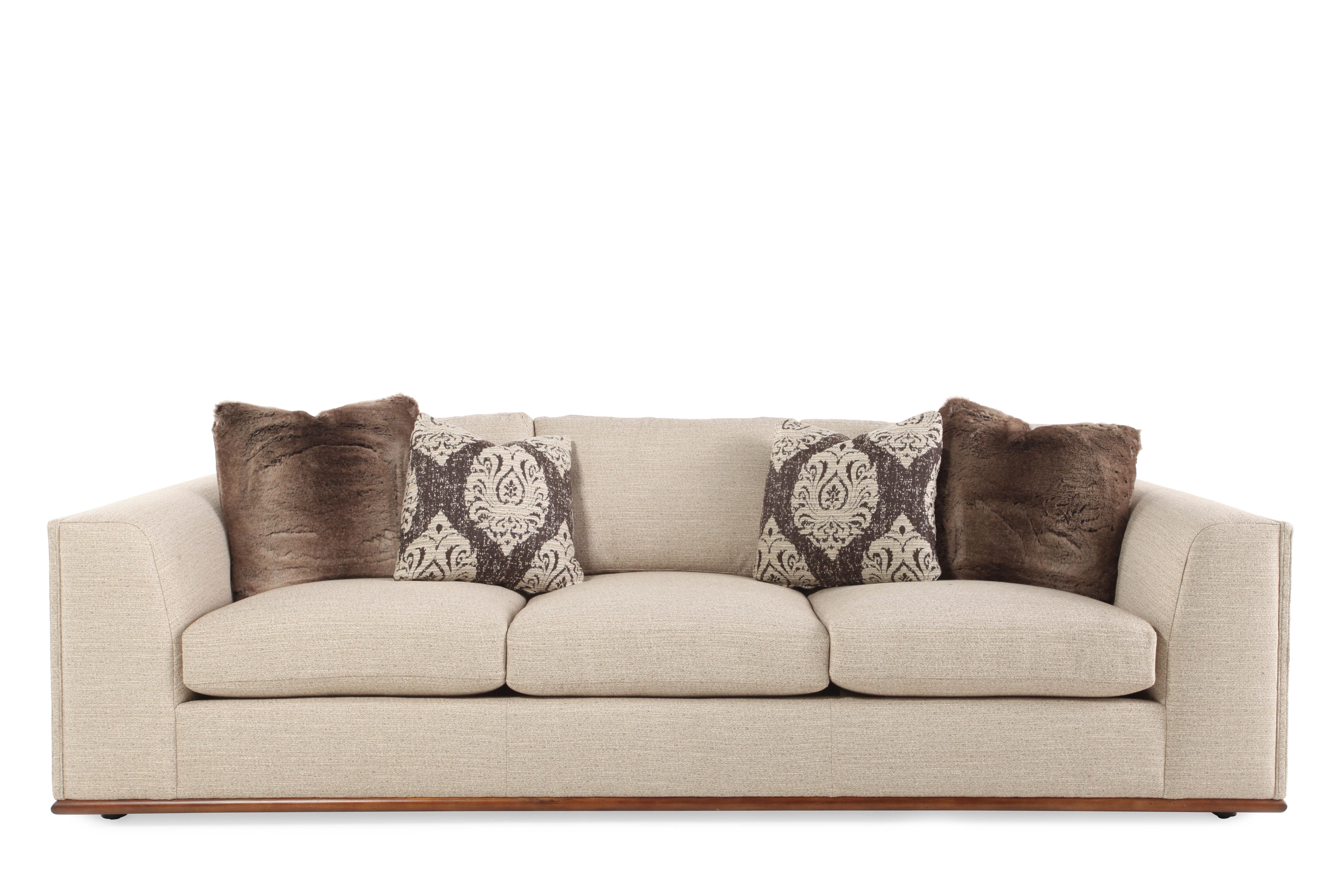 Images Low Profile 107.5u0026quot; Sofa In Cream Low Profile 107.5u0026quot; Sofa  In Cream