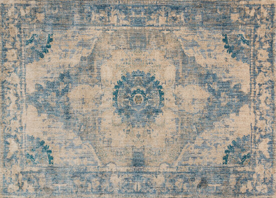 "Magnolia Home Power Loomed 5' 3"" X 7' 8"" Rug in Sand/Sky"