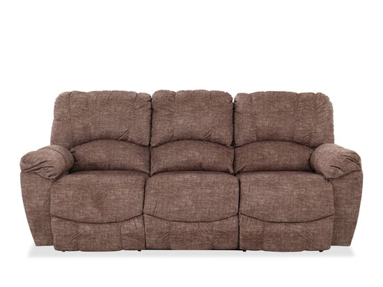 """Contemporary Power Reclining 87"""" Sofa in Brown"""