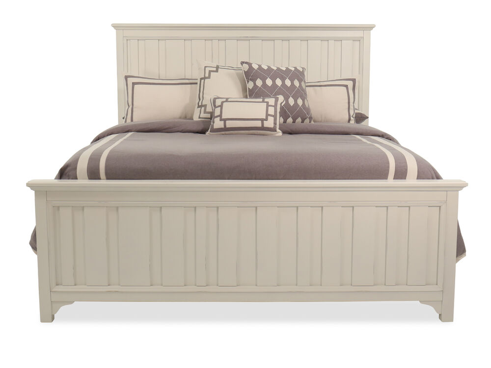 "64"" Casual Panel Bed in Chalk"