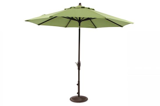 Contemporary Aluminum Auto Tilt Umbrella in Green