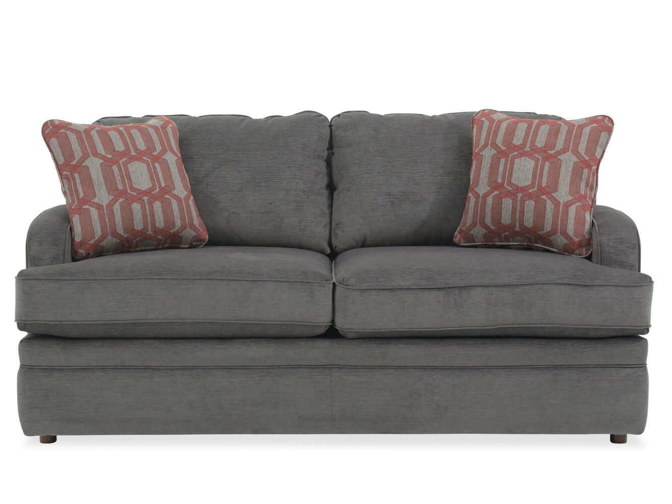Traditional 69 full sleeper sofa in gray mathis for Grey traditional sofa