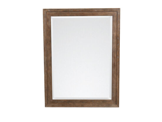 38'' Traditional Rectangular Mirror in Peppercorn