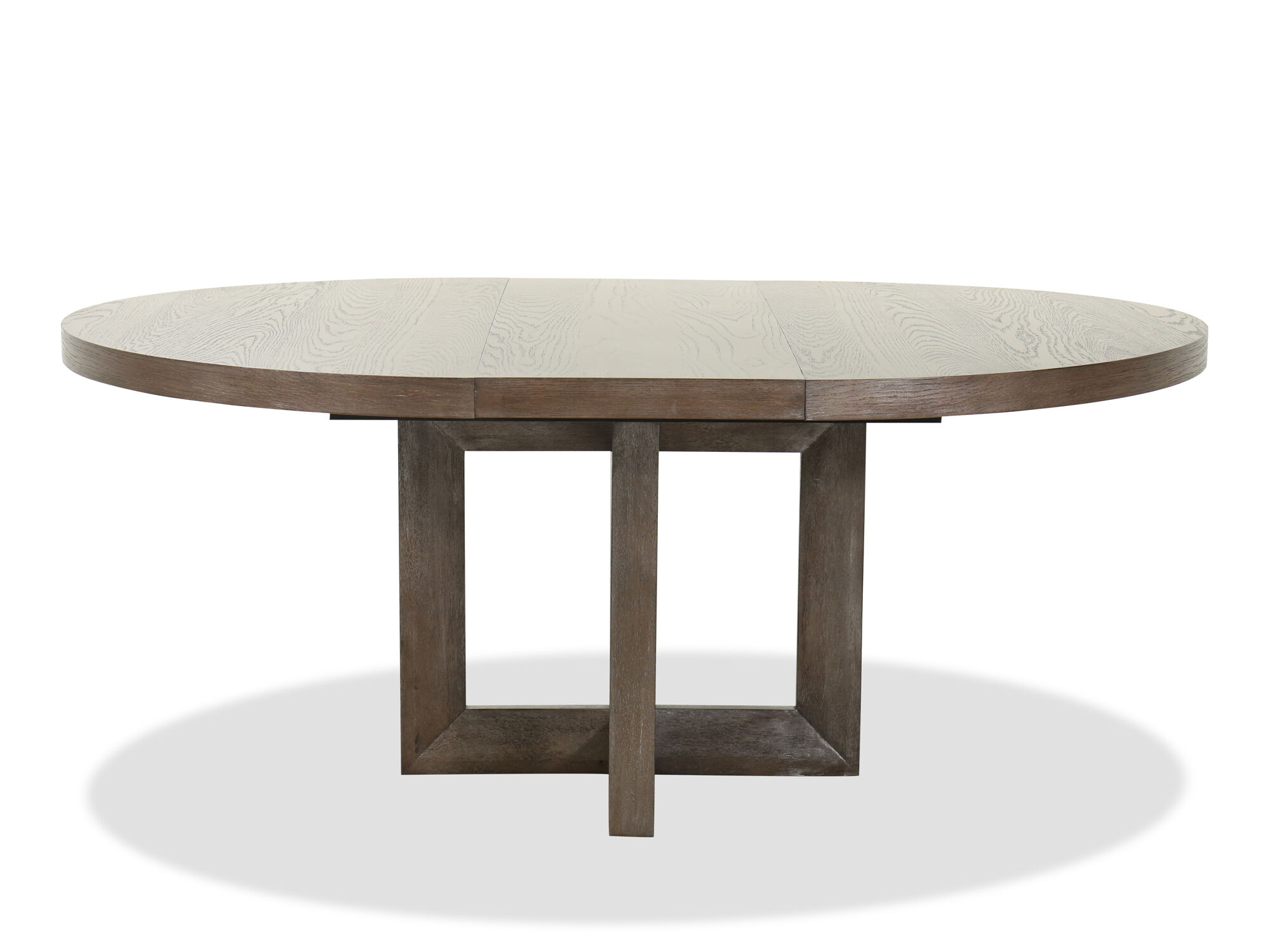 Transitional 54 To 72 Extendable Dining Table In Dark Brown Mathis Brothers Furniture