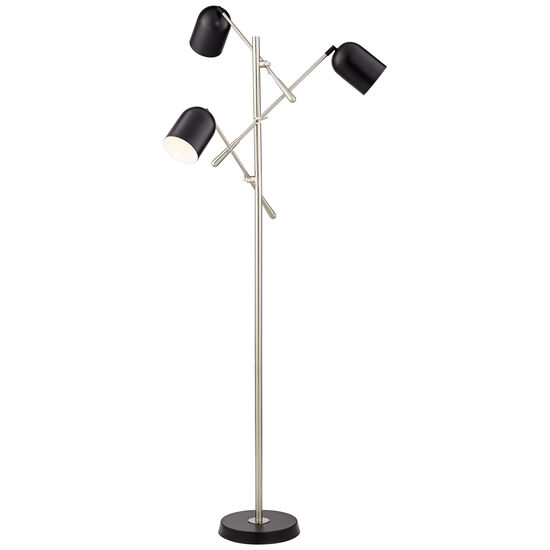 Three-light Floor Lamp in Black