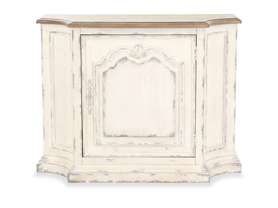 """45"""" Traditional Single-Door Console in White"""