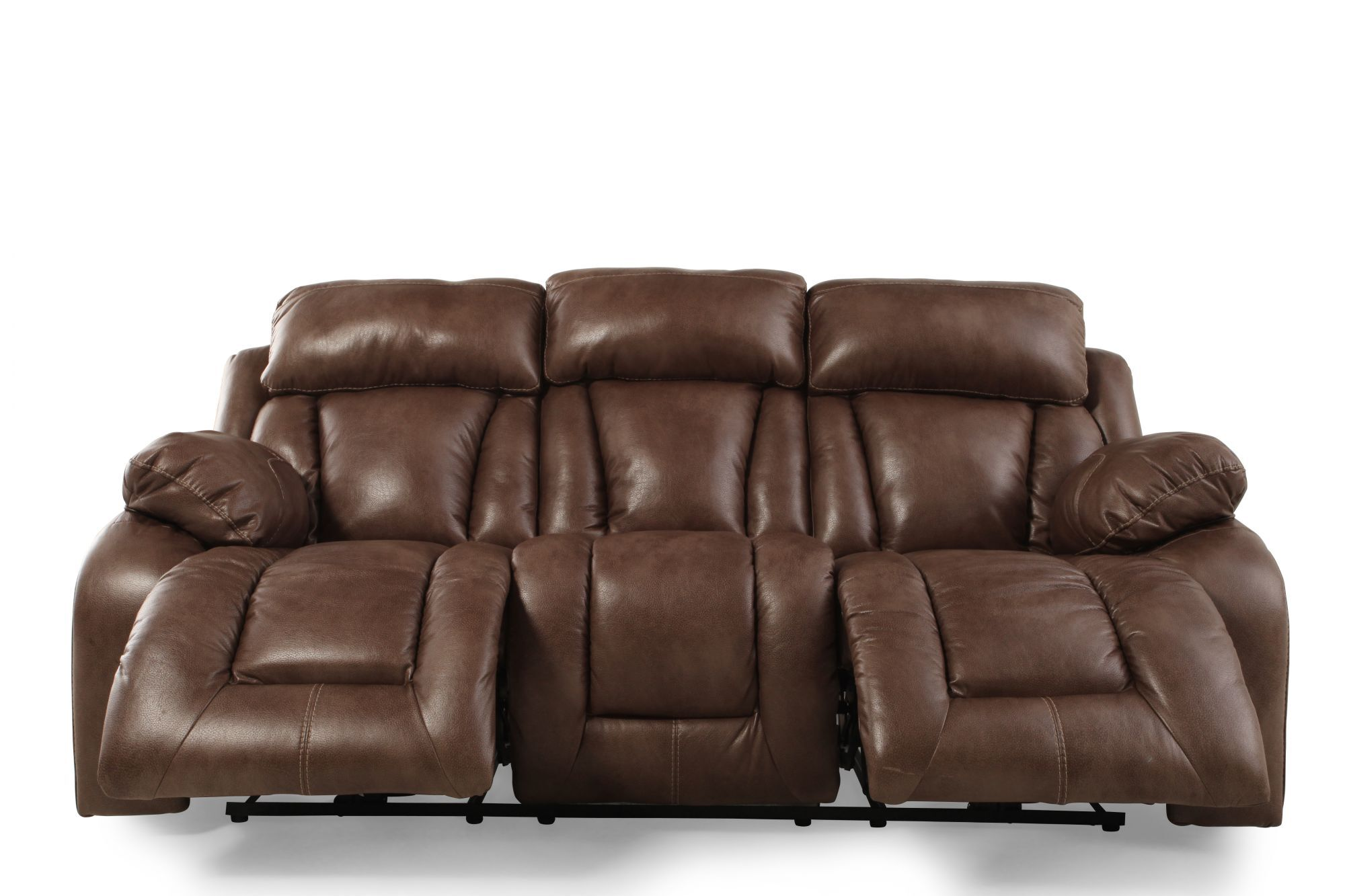 Power Reclining Leather 88 Quot Sofa In Sable Brown Mathis