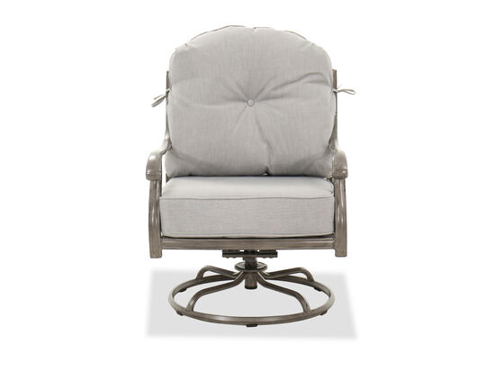 High-Back Swivel Rocker Club Chair in Gray