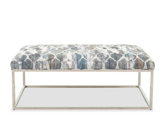 Contemporary Rectangular Cocktail Ottoman in River Rock