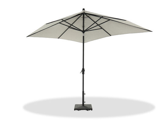 Casual Auto Tilt Umbrella in Black/White