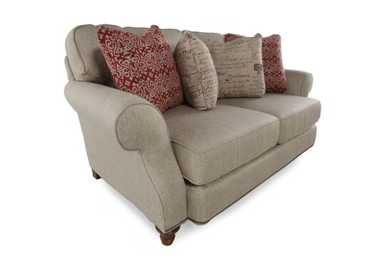 """Traditional 72"""" Loveseat in Oyster"""