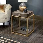 Contemporary Storage Side Tablein Diamond Ash