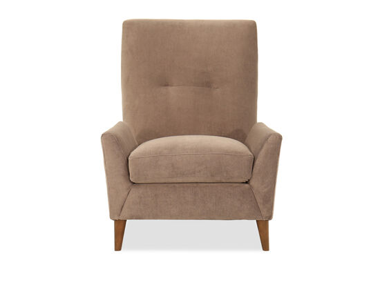 """Wing-Back Casual 35"""" Accent Chair in Brown"""