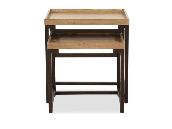 Contemporary Nesting Tables in Natural Oak