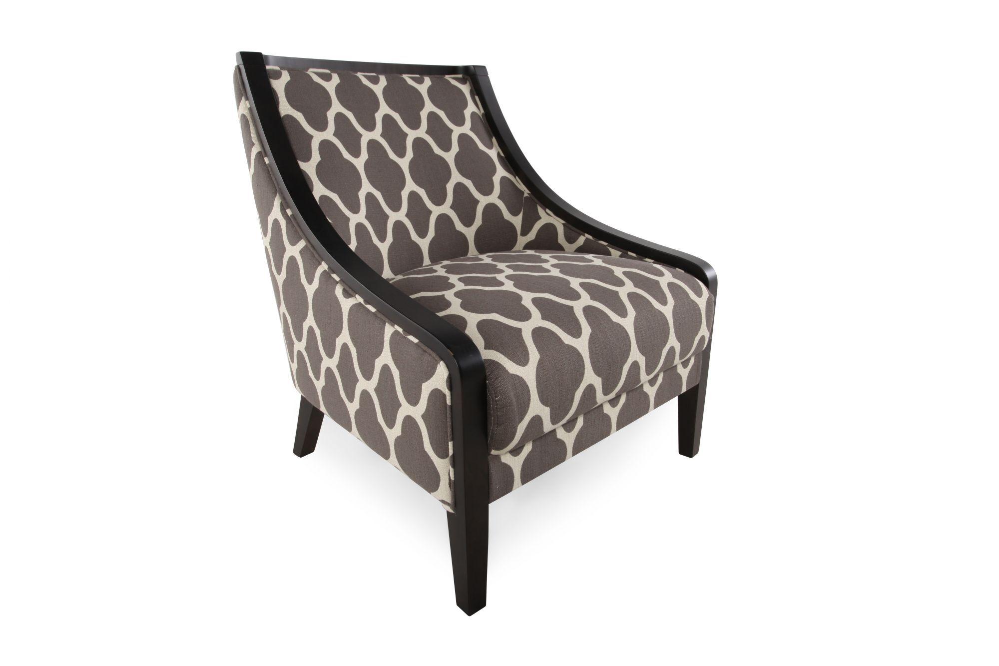 ... Quatrefoil Patterned Contemporary 28u0026quot; Accent Chair In ...
