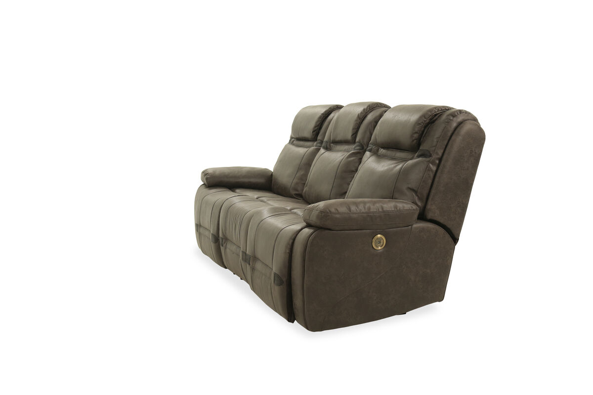 reclining sofa chair. Flaunting Plush Leather Upholstery, This Casual-style Power Reclining Sofa  Lends An Effortless Makeover To Your Living Room Presentation. Chair