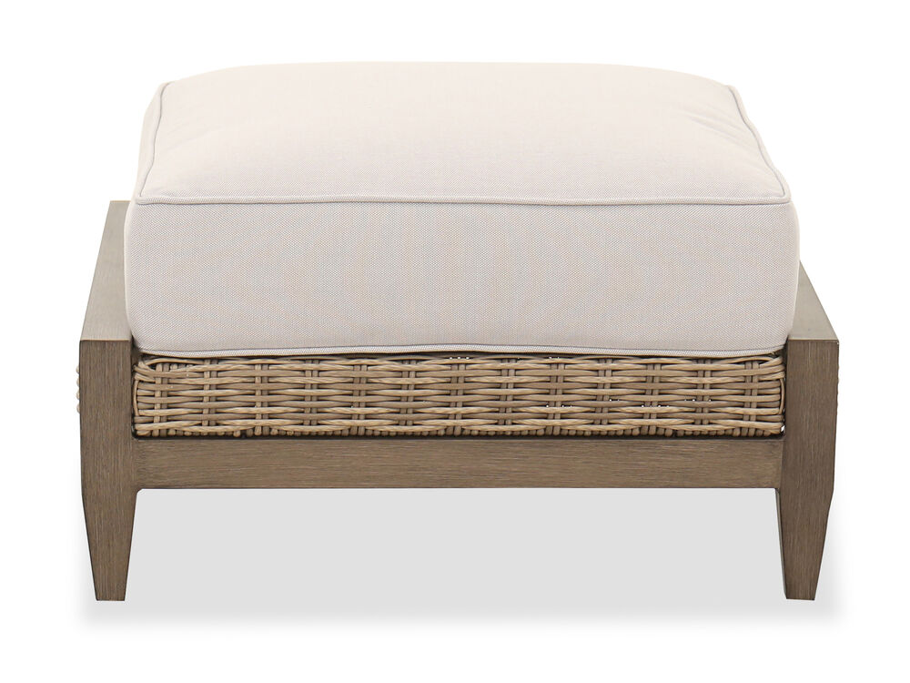 Traditional Patio Ottoman in Beige