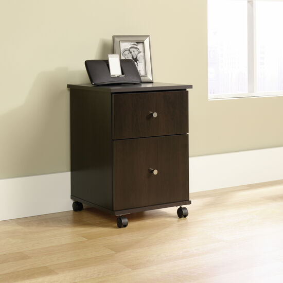 Transitional File Cart in Cinnamon Cherry