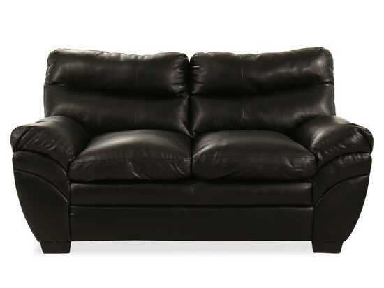 "69"" Loveseat in Black"