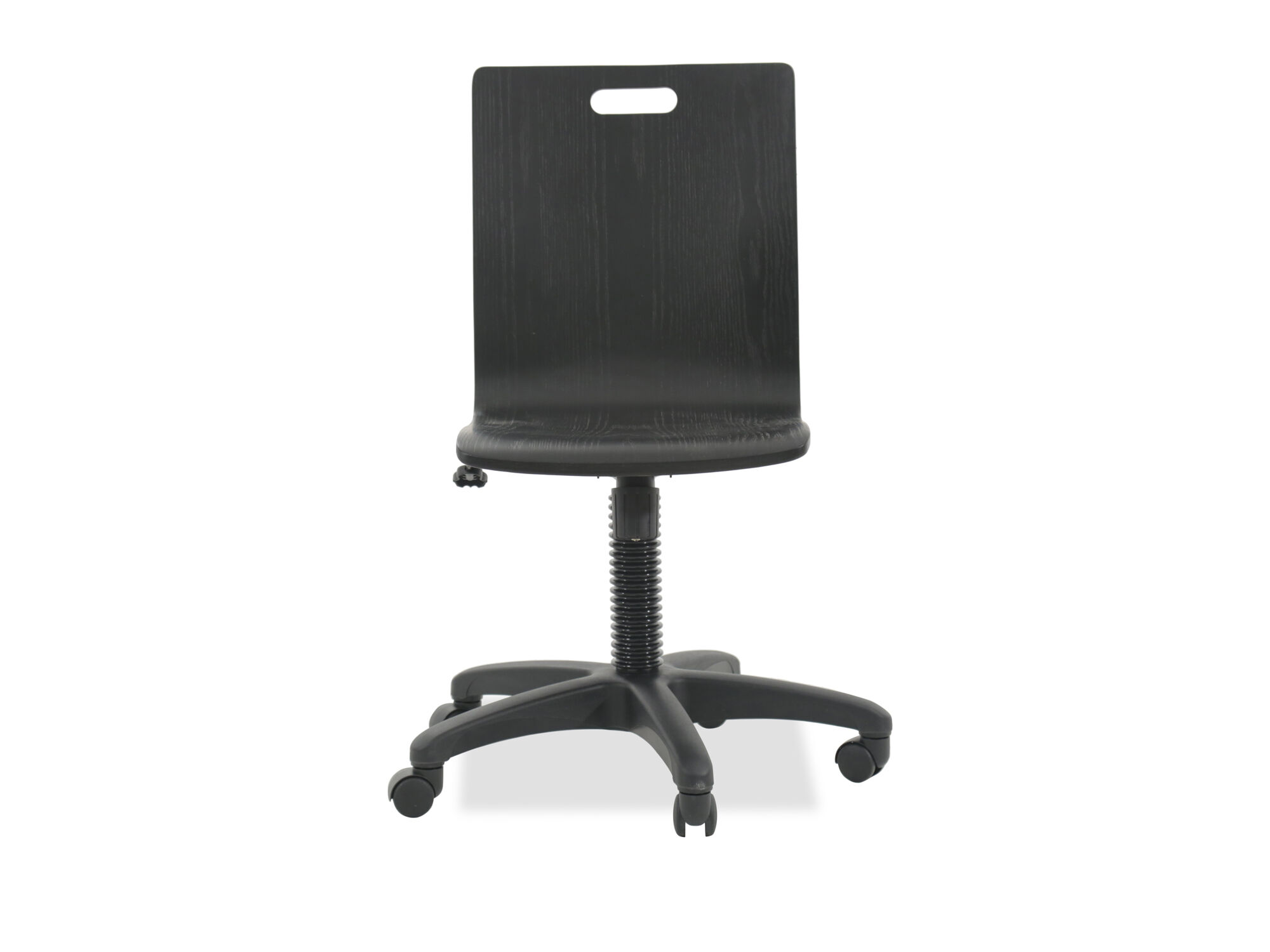 Ordinaire Transitional Swivel Youth Desk Chair In Graphite