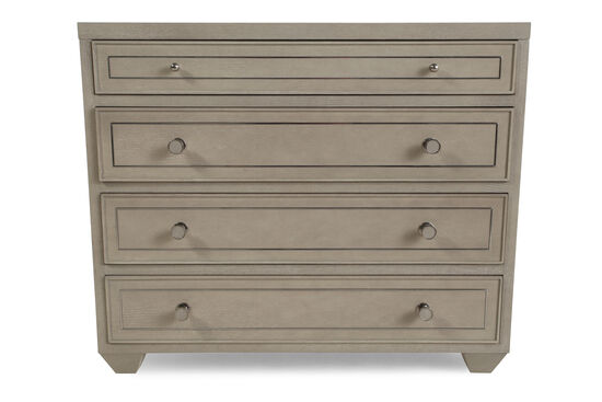 """32"""" Metropolitan Four-Drawer Bachelor's Chest in Heather Gray"""