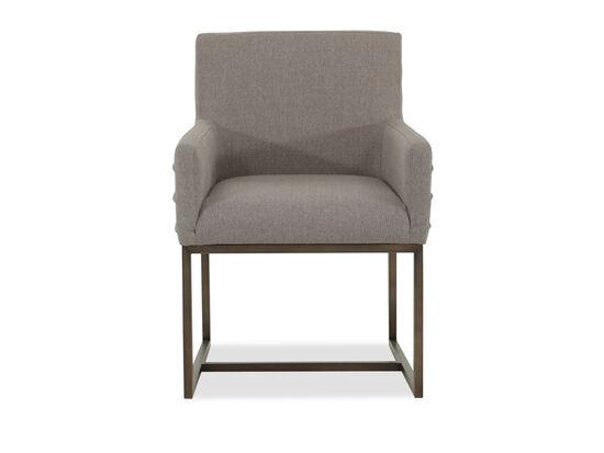 "Mid-Century Modern 34"" Welt-Corded Arm Chair in Bronze"