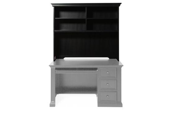 Four-Shelf Casual Youth Desk Hutchin Matte Ebony