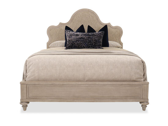 "73"" Casual Upholstered King Bed in Fawn"