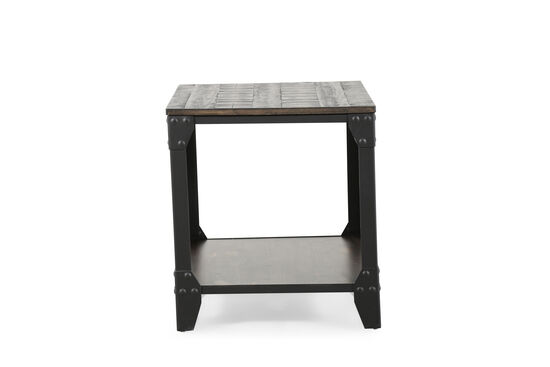 Open-Shelf Contemporary End Table in Charcoal